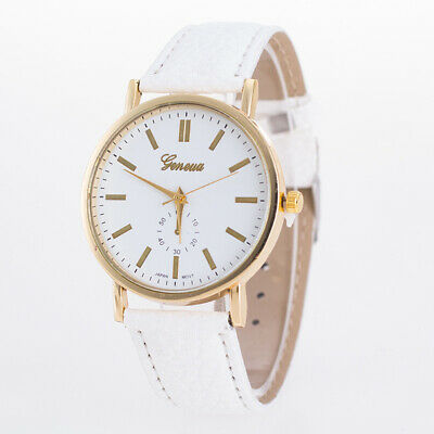 Geneva Casual Watch PU Belt Fashion Quartz Watch