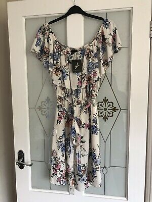 30a1fea91a Ladies Primark Gorgeous Floral Off The Shoulder Summer Dress Size 18 BNWT  NEW