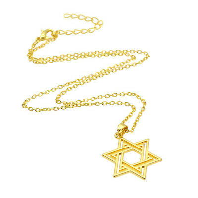 Star of David Charm Necklace Silver Gold Pendant Chain Statement Jewelry