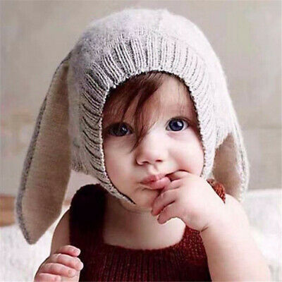 Baby Rabbit Ears Hat Infant Toddler Autumn Winter Knitted Caps for Children
