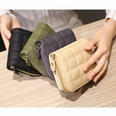 31ba4eac9a4c4f Small Women Short Wallets PU Leather Plaid Short Wallet Women Leather Holder