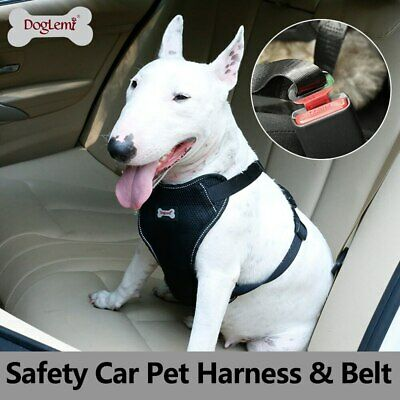 Doglemi Car Saftey Dog Harness Padded Seat Belt Vehicle Harness Adjustable