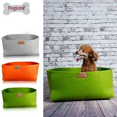 Doglemi Pet Bed Natural Rural Style Pet Cat and Dog Bed 3 Colors Mat for Kitten