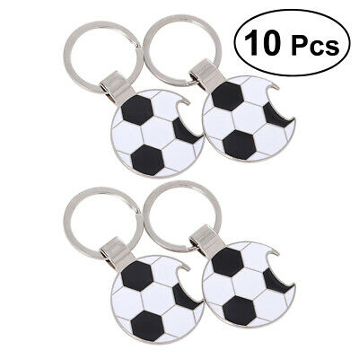 10pcs Soccer Bottle Opener Key Chain Pocket Wine Opener Key Chain Keyring Opener