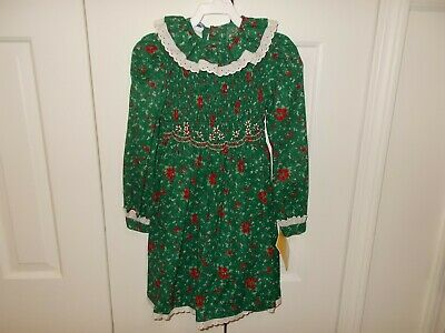 Polly Flinders Size 6 Child Dress Hand Smocked NEW with TAGS