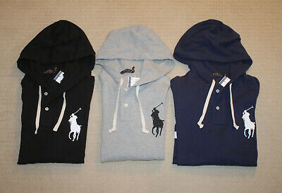New Polo Ralph Lauren Big Pony Classic Fit Long Sleeve Hoodie Shirt
