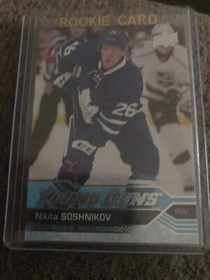 16/17 Upper Deck Series 2 Young Guns #484 Nikita Soshnikov Maple Leafs
