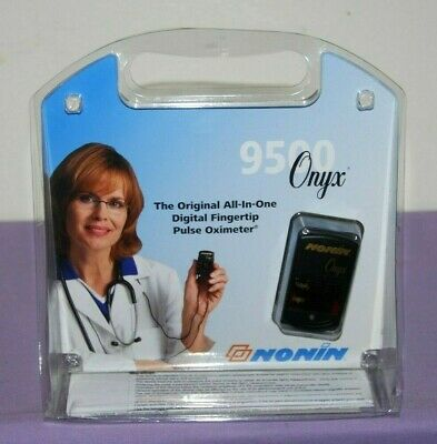 Nonin Onyx 9500 Digital SpO2 Pluse Oxygen All-In-One Fingertip Oximeter  -- NEW