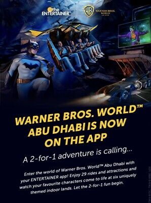 Warner Bros Abu Dhabi Buy One Get One Free- Abu Dhabi Entertainer 2019 E Voucher