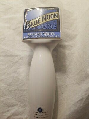 Blue Moon Belgian White Wheat Ale Beer Tap Handle Bar Cave Draft Summer Craft