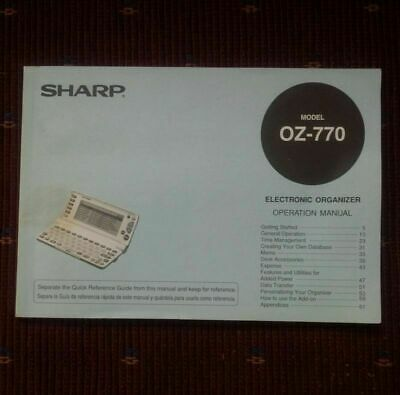Sharp Wizard OZ-770 Manual Only