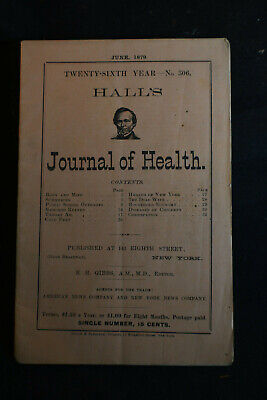 1879 Halls Journal of Health - Hollow Suppositories -