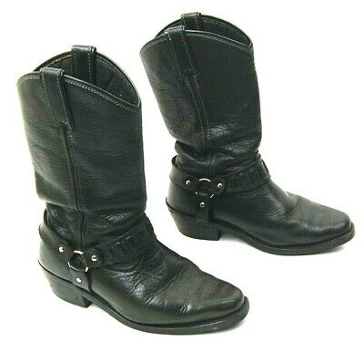 e708ed85043 XELEMENT 1442 'CLASSIC' Men's Black Harness Motorcycle Biker Boots ...