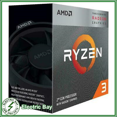 AMD Ryzen 3 3200G Processor 4MB 3.6 GHz AM4 4 Thread 4 Core CPU Vega 8 Graphics
