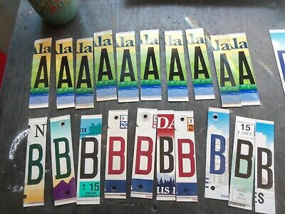 Lot of 30 Cut-up License Plate Letters All Flat Plate Style