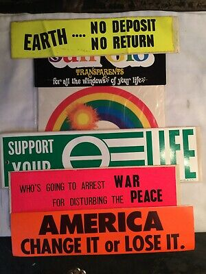 VTG/Ecology/ America Change It or Lose It/ Earth No Deposit No Return Lot of 5