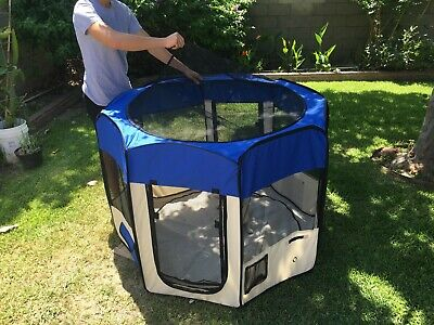 """48""""  Tall Dog Playpen Crate Fence Pet Play Pen Exercise Kennel Cage -8 Panel"""