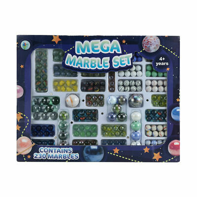 Mega Glass Marbles Pack Set Space Game Kid Toy Classic Bulk Family Vintage Play