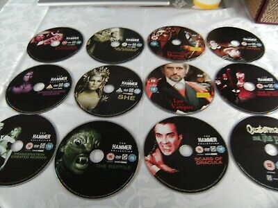 12 x DVD's; Hammer Collection. Lust For a Vampire / She / The Reptile / Dracula.