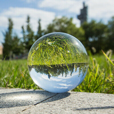 Pro Clear Magic Crystal Ball Sphere Glass Decorative Ball Photo Props 100mm 80mm