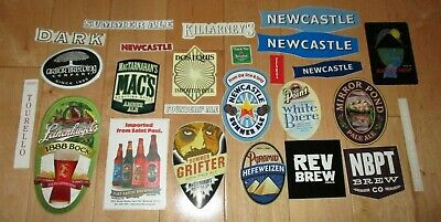 25 BEER STICKER PACK LOT decal craft beer brewing brewery tap handle E
