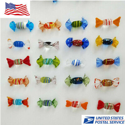 12pcs Wedding Party Candy Home Decorations Vintage Murano Glass Sweets