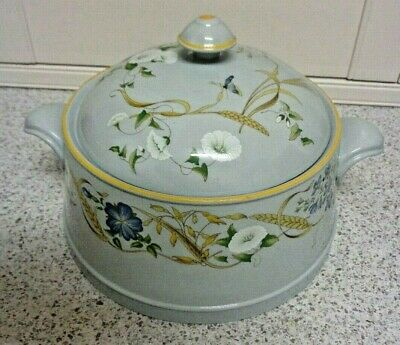 LG.Spode VINTAGE SUMMER HARVEST  Round Covered Deep Dish OVEN TO TABLE Casserole