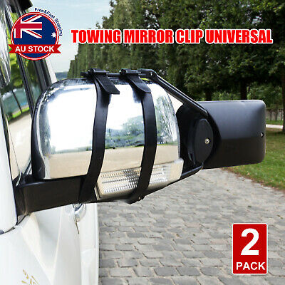 2x Towing Mirror Clip Universal Multi Trailer Caravan Car Truck Vehicle 4WD H