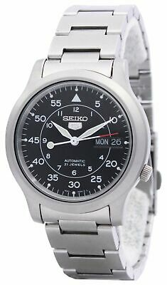 Seiko 5 Snk809 Automatic Military Black Dial Stainless Steel Mens
