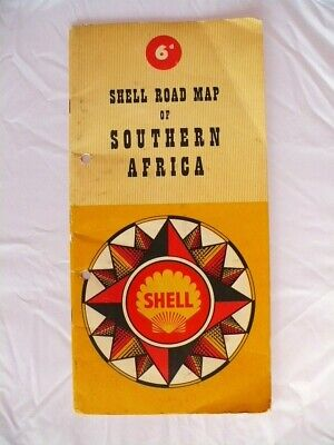 Shell Vintage Road Map of Southern Africa 1955