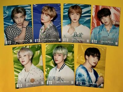 BTS Photo Set Lights/Boy With Luv UNIVERSAL MUSIC LTD. Photocard Japan Official