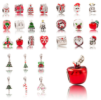 5pcs Christmas series alloy pendant beads Beading bracelet jewelry accessories