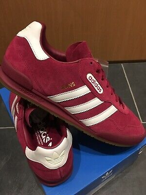 arrives buy sale details for ADIDAS JEANS SUPER 9.5 44 Ruby Red Pink OG CW Retro 80s City ...
