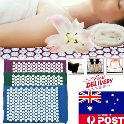 Massage Acupressure Mat Yoga Shakti Sit Lying Mats Cut Pain Stress Soreness Pad