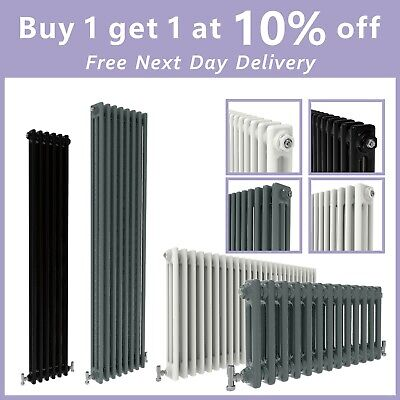 Cast Iron Style 2 3 Column Traditional Horizontal Vertical Vintage Radiator UK
