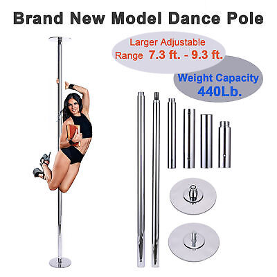 Portable Static Spinning Dancing Pole 45mm Weight Capacity 660Lb.