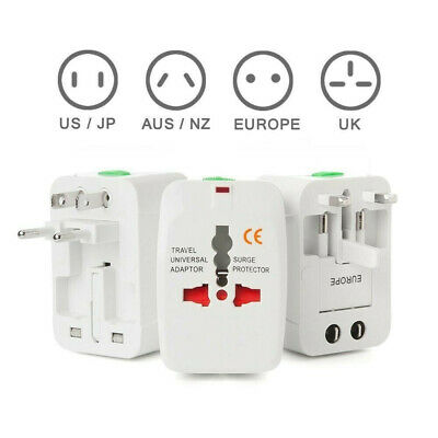 Universal Travel Adapter Multi Plug Charger with Dual 2 USB Ports Worldwide I AU