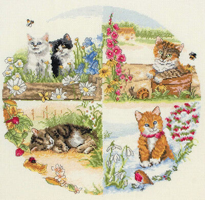 Anchor Cross stitch kit - Cats and seasons PCE895