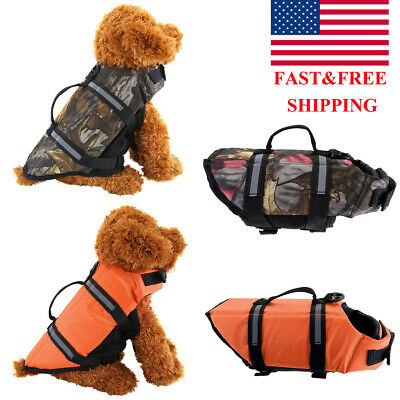 Pet Dog Life Preserver Jacket Swim Surf Safety Floatation Vest Saver  Size XS-L