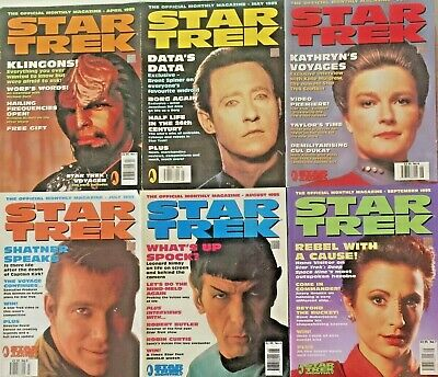 53 X StarTrek The Official Monthly Magazines Issues 1995-2002 +Extras see Photos