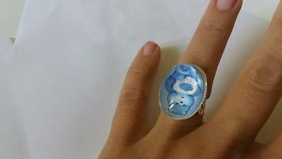anillo ajustable ring osos amorosos care bears 18x25mm adjustable ring