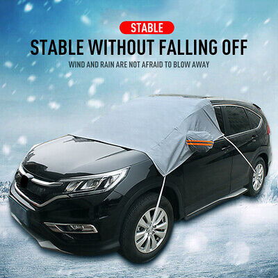 Car Half Cover Front Glass Waterproof Resist Anti-Frost Protection UV Rain Snow