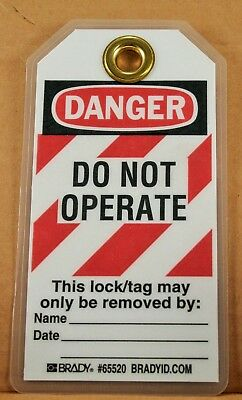 BRADY Lockout Tag, Heavy Duty Laminated Polyester, Danger (Pack of 25) 65520