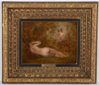 """Hans Makart (1840-1884) """"Venus and Cupid"""", rediscovered oil painting!!, 1870/80"""