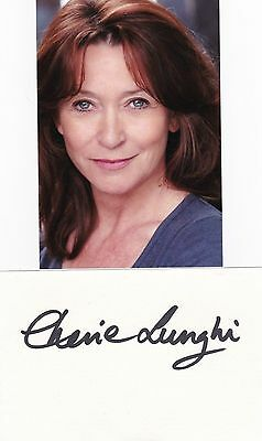Cherie Lunghi-The Manageress- Signed Card/ Album Page + Photo-Aftal/Uacc Rd316