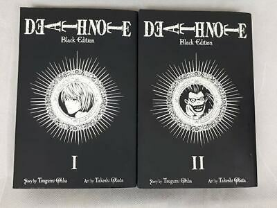 Death Note Volume 1 & 2 Black Edition – Manga, English – Tsugumi Ohba