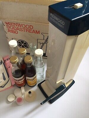 Vintage Kenwood A180 Soda stream Boxed 6 X Bottles Unopened