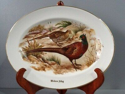 Woburn Abbey Liverpool Road Pottery Pheasant Oval Plate B40/07