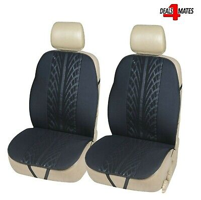 2 Pcs Black Front Car Seat Covers Protectors Support Pads For Ford Fiesta Mondeo