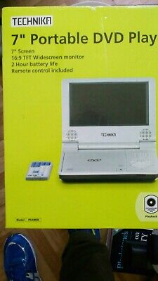 New 7 inch Portable DVD Player with Remote Control Widescreen 2 Hour Battery